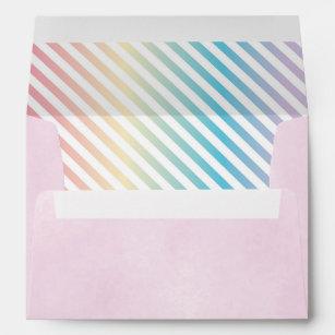 rainbow envelopes zazzle