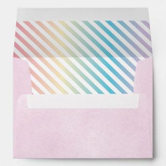 Rainbow Party Envelope, Unicorn Invite Envelopes