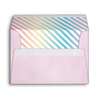 Rainbow Party Envelope, Unicorn Invite Envelopes