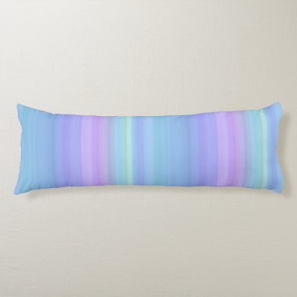 Rainbow Pastel Blue Purple Green Body Pillow