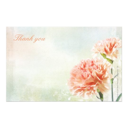Rainbow Pastel Carnation Stationery