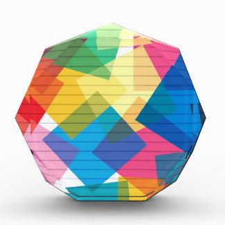 rainbow pastel colors fabric design circles Antiqu Acrylic Award