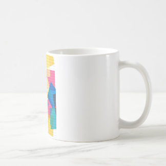 rainbow pastel colors fabric design circles Antiqu Coffee Mug