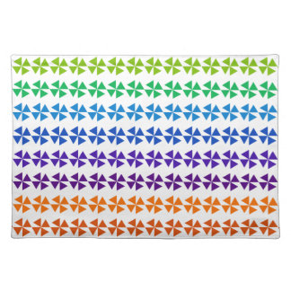 rainbow pastel colors fabric design circles Antiqu Placemats