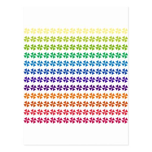 rainbow pastel colors fabric design circles Antiqu Post Card