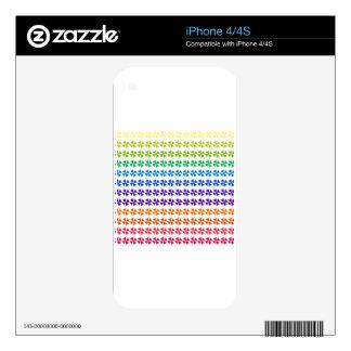 rainbow pastel colors fabric design circles Antiqu Skin For iPhone 4