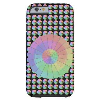 Rainbow Pastel Colors Spikes Unique Fashion Tough iPhone 6 Case