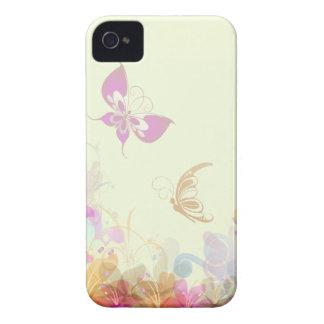 Rainbow Pastel Florals iPhone 4 Cases