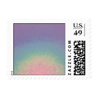 Rainbow pastel  - postage stamps