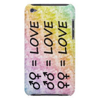 Rainbow Pastel Scribbles with All Love Signs Case-Mate iPod Touch Case