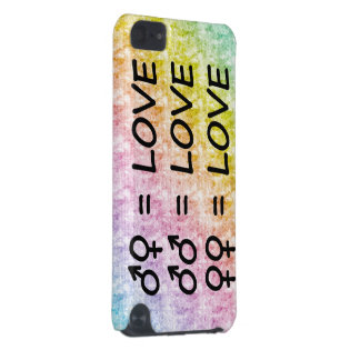 Rainbow Pastel Scribbles with All Love Signs iPod Touch (5th Generation) Cover