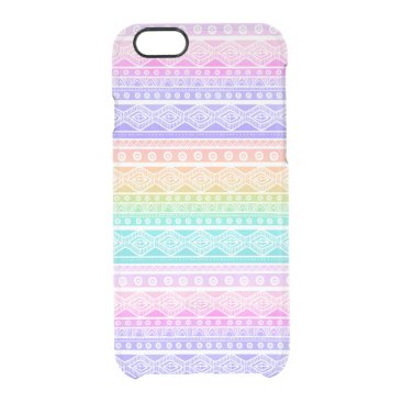 Aztec Themed Rainbow Pastels Aztec Clearly™ iPhone 6 Case