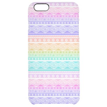 Aztec Themed Rainbow Pastels Aztec Clearly™ iPhone 6 Plus Case
