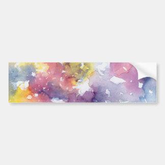 Rainbow pastels bumper sticker