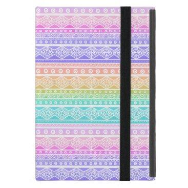 Aztec Themed Rainbow Pastels Girly Aztec Powis iPad Mini Case