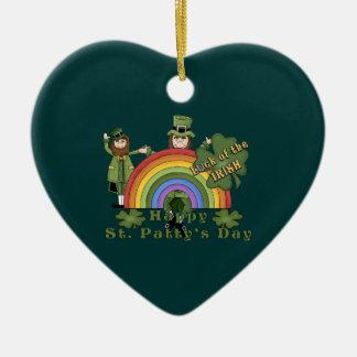 Rainbow Pat Ceramic Ornament