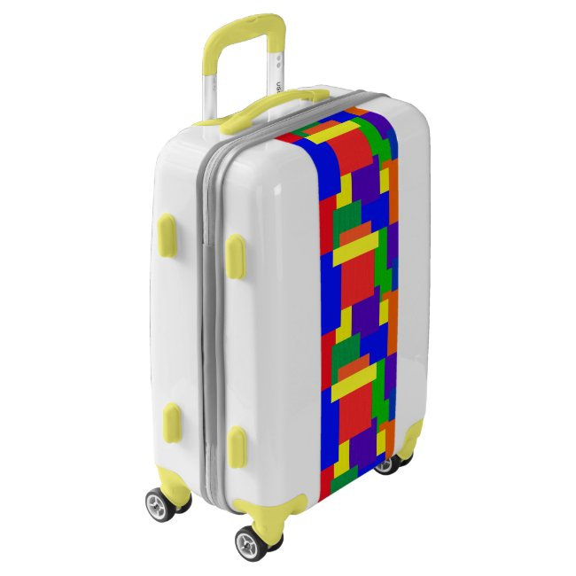 Rainbow Patchwork Abstract Design Luggage