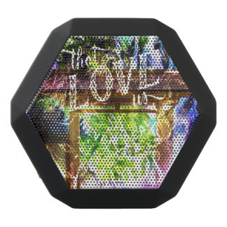 Rainbow Pathway to the Ones that Love Us Black Bluetooth Speaker