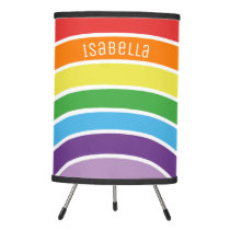 Rainbow Pattern Colorful Personalized Kids Tripod Lamp