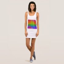 Rainbow pattern dress