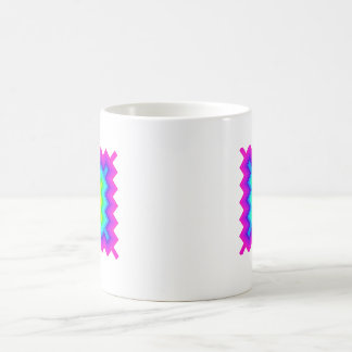 Rainbow Pattern Granny Square Style Coffee Mugs