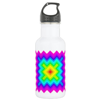 Rainbow Pattern Granny Square Style 18oz Water Bottle