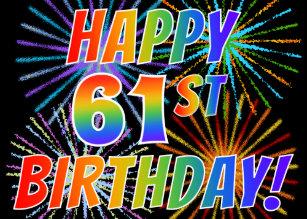 61st Birthday Cards Zazzle