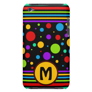 Rainbow Pattern Monogram Barely There iPod Cases