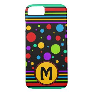 Rainbow Pattern Monogram iPhone 7 Case