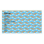 Rainbow pattern on blue business card template