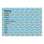 Rainbow pattern on blue business cards