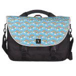 Rainbow pattern on blue laptop computer bag