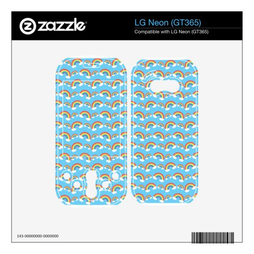 Rainbow pattern on blue.png LG neon skin