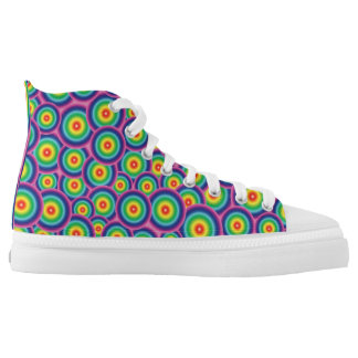 Rainbow pattern printed shoes