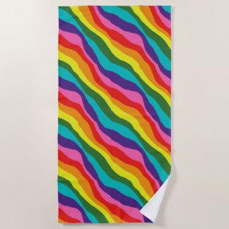 Rainbow Patterns Beach Towel
