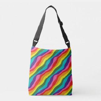 Rainbow Patterns Crossbody Bag