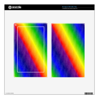Rainbow Patterns Decal For Kindle Fire
