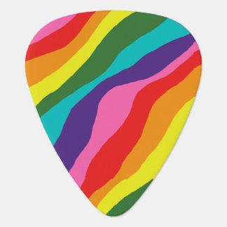Rainbow Patterns Guitar Pick