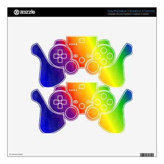 Rainbow Patterns PS3 Controller Decals