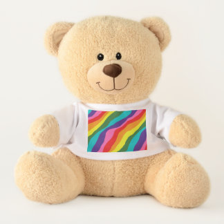 Rainbow Patterns Teddy Bear