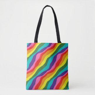 Rainbow Patterns Tote Bag