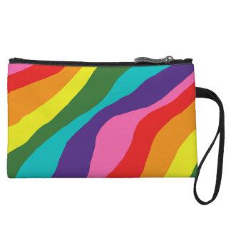 Rainbow Patterns Wristlet Wallet