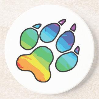 Rainbow Paw Coaster