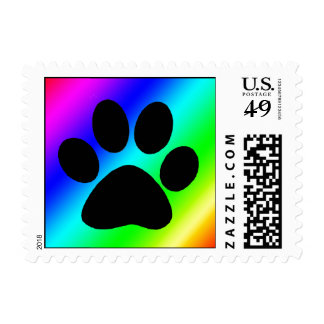 Rainbow Paw.png Postage Stamp