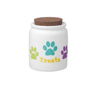 Rainbow Paw Print Dog Treat Candy Dishes
