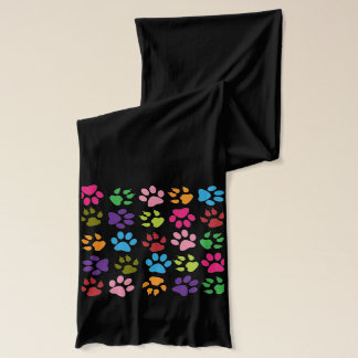 Rainbow paw print scarf