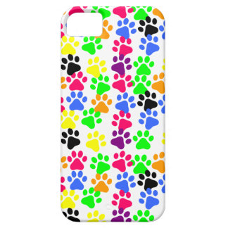 Rainbow Paw Prints Device Case iPhone 5 Case
