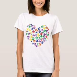 Rainbow Paw Prints T-Shirt