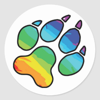 Rainbow Paw Sticker