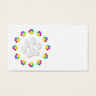 Rainbow Pawprints Business Cards